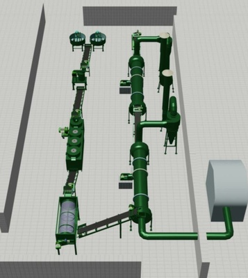 Organic Fertilizer Round Granules Production Line